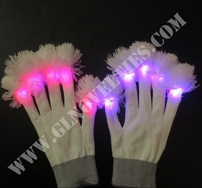 Led White Gloves with Pampons XY-653