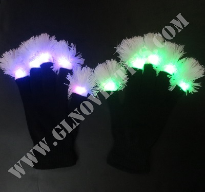 Led Black Gloves with Pampons XY-654