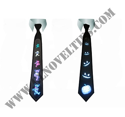 Light Up Sounds Activated Tie with Logo XY-2690
