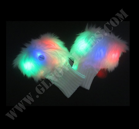 Light Up Fingerless Gloves XY-2705