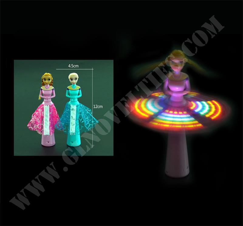 Light Up Snow Queen Spinning Flashing Wands With Music XY-6009